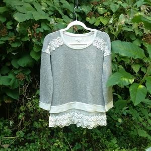 Maurice's gray lace sweater